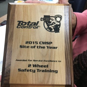 award cmsp training site of the year